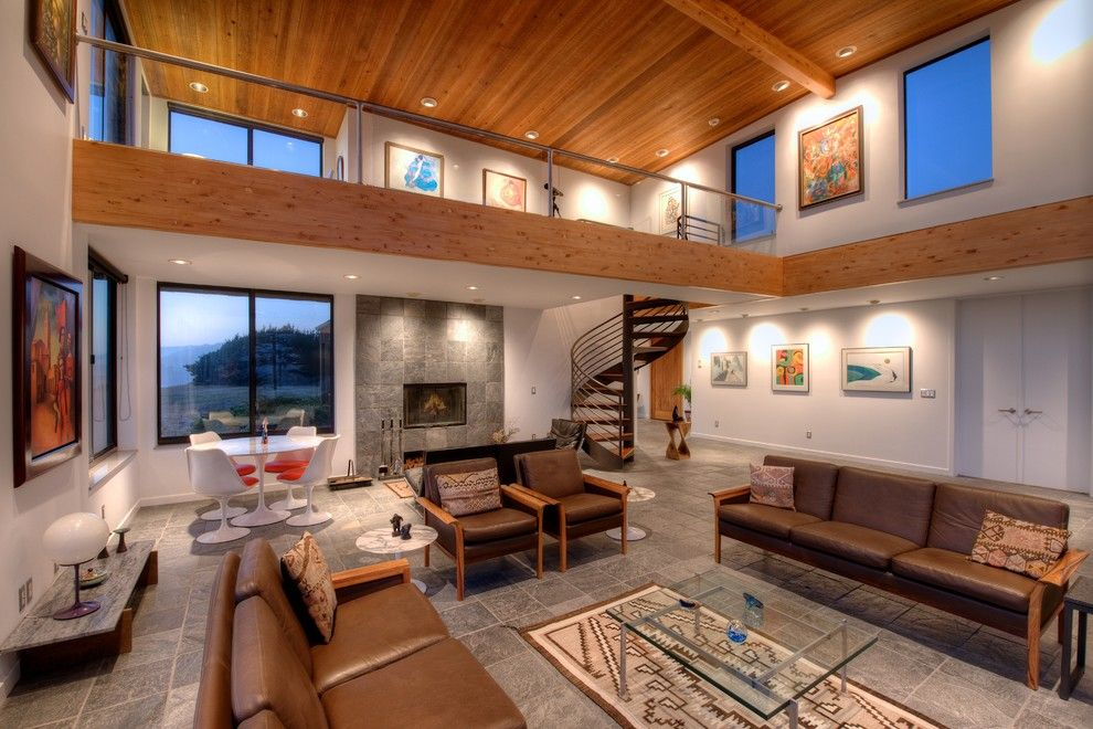Mazama Country Inn for a Contemporary Living Room with a Spiral and Sea Arches of Mendocino Coast by Decker Bullock Sotheby's International Realty