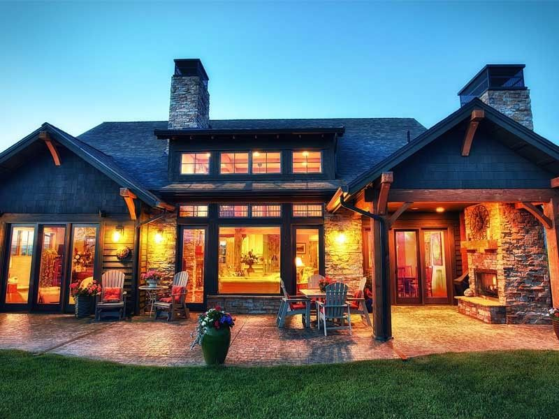 Mccall Golf Course for a Rustic Exterior with a Mountain Home and Residential Project 1 by Biggerstaff Construction