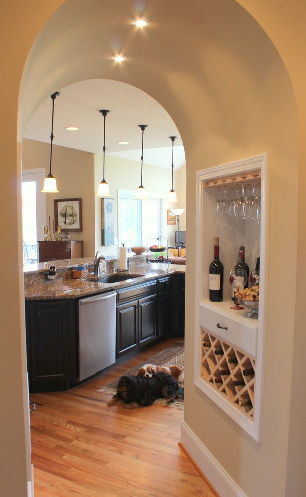 Mccall Golf Course for a Traditional Kitchen with a Wine Rack and River Course Golf Course Home by Progress Street Builders