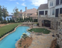 Mccall Golf Course for a Transitional Pool with a Green Landscape and Pools & Oasis by Paragon Landscape Management