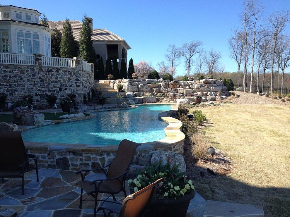 Mccall Golf Course for a Transitional Pool with a Shingled Roof and Pools & Oasis by Paragon Landscape Management