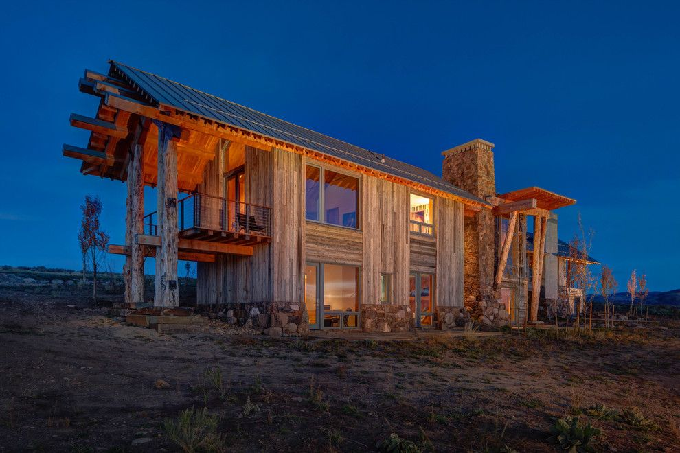Mcdowell Mountain Ranch for a Rustic Exterior with a Wood and Wolf Creek Ranch by Shubin + Donaldson Architects, Inc.
