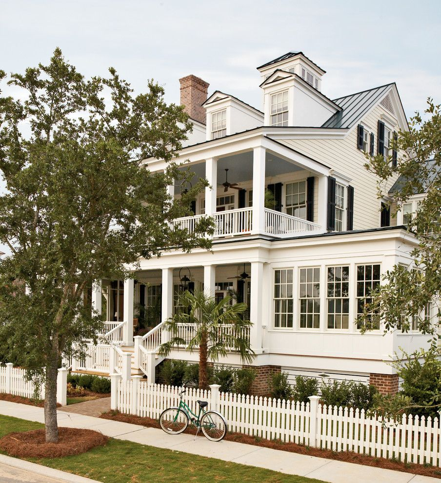 Mcloone's Pier House for a Traditional Exterior with a French Windows and River Dunes Captain's House by Historical Concepts