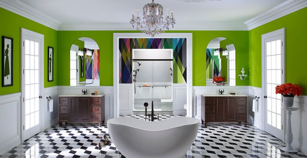 Mecca Furniture for a Contemporary Bathroom with a Arched Mirrors and Kohler by Kohler
