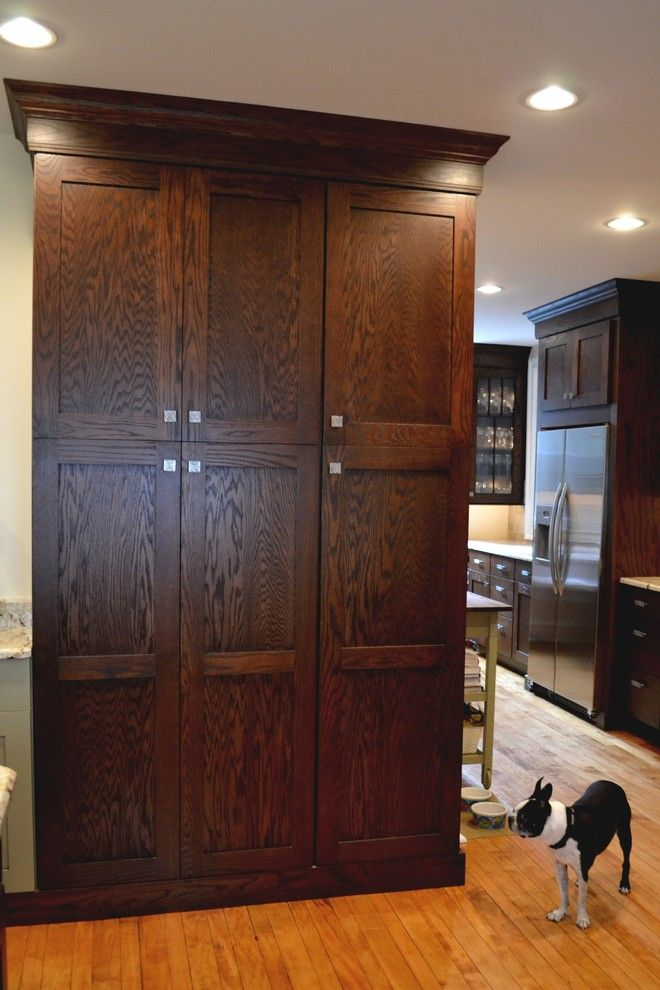 Mecca Furniture for a Rustic Kitchen with a Pantry and Dynasty Mecca Oak Chestnut by Sterling Kitchen & Bath
