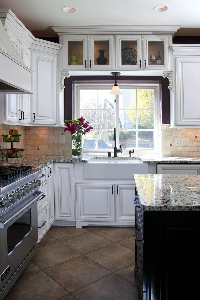 Mecca Furniture for a Traditional Kitchen with a Island Seating and Cherry Island Kitchen by Connor Remodeling & Design, Inc.