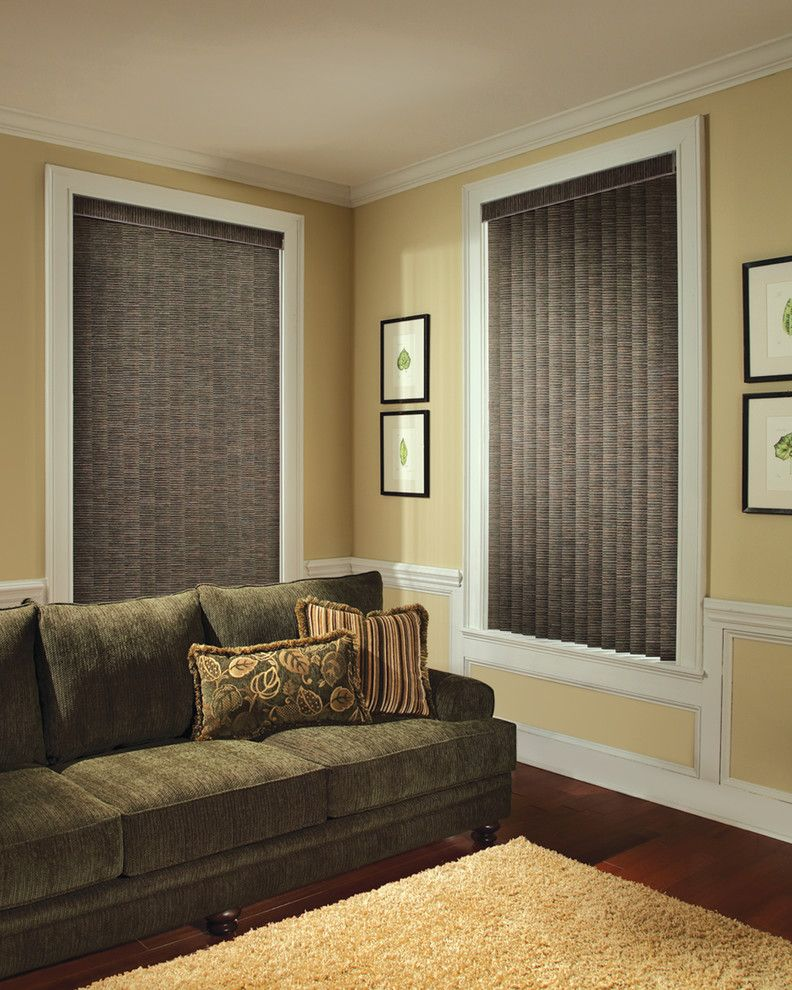 Mechoshade for a Contemporary Living Room with a Powerise and Home Automation & Motorization by Blinds & Designs