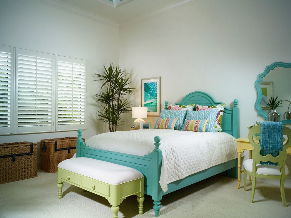Medical Specialists of the Palm Beaches for a Tropical Bedroom with a Yellow Desk and Annalisa at Mediterra by London Bay Homes
