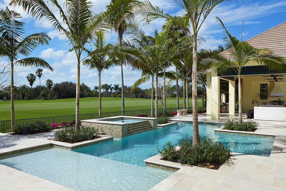 Medical Specialists of the Palm Beaches for a Tropical Pool with a Golf Course and Brighton at Quail West by London Bay Homes