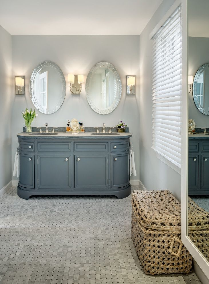 Melrose Discount Furniture for a Traditional Bathroom with a Double Vanity and Bathroom Remodeling by Justine M Kingham, Aia