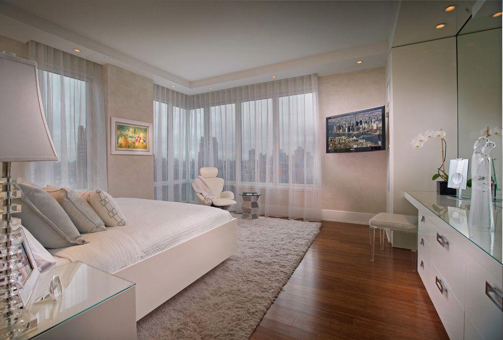 Menards Bay City for a Contemporary Bedroom with a Manhattan and New York   Manhattan   Denier   Residence by Pepe Calderin Design  Modern Interior Design
