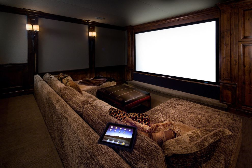 Meridian Movie Theater for a Contemporary Home Theater with a Contemporary and Lake Oswego Home by Av Awakenings