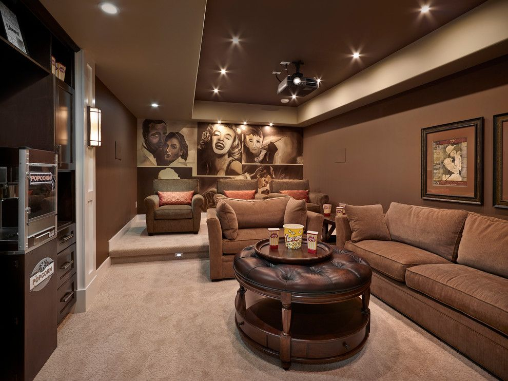 Meridian Movie Theater for a Traditional Home Theater with a Soffit and Granville Bungalow - Cash & Cars for Cancer Lottery Home 2013 by Kimberley Homes