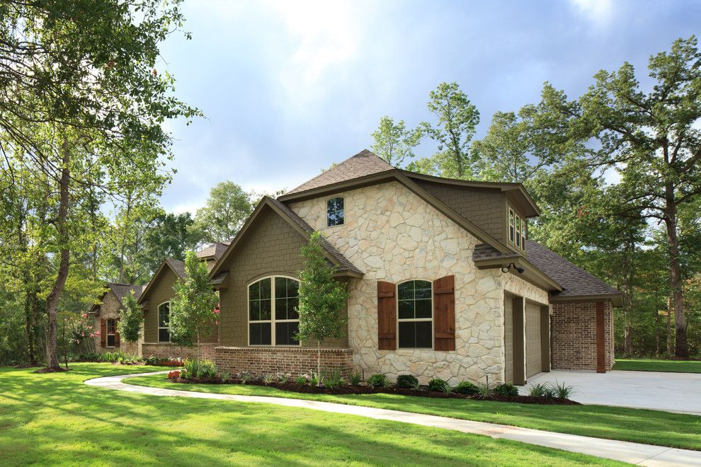 Meritage homes houston for a traditional exterior with a for Brick traditional homes