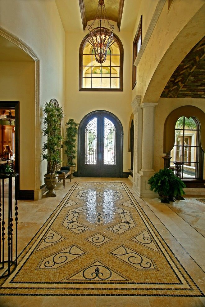 Meritage Homes Orlando for a Mediterranean Entry with a Mediterranean and Street of Dreams (By: River Oaks Development) by Mjs Inc. Custom Home Designs