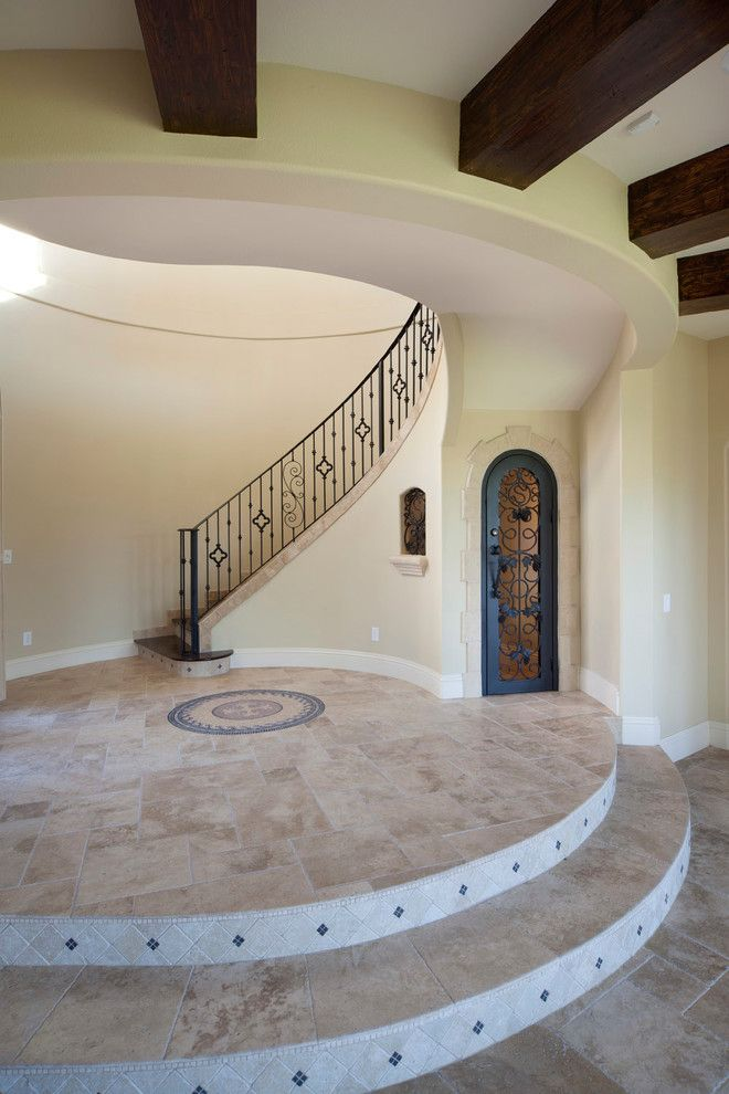 Meritage Homes Orlando for a Mediterranean Staircase with a Mediterranean and Villa Silvina by Jorge Ulibarri Custom Homes