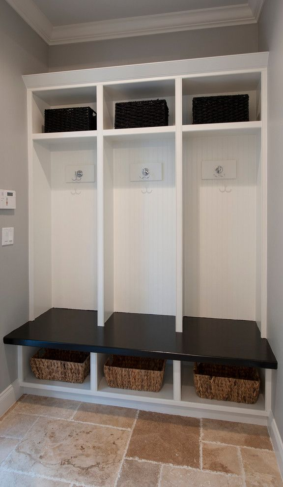 Meritage Homes Orlando for a Traditional Entry with a Mud Room Custom Cubbies and New Homes by Kelsey Custom Homes, Inc.