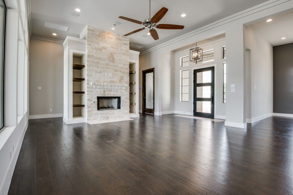 Meritage Homes San Antonio for a Transitional Family Room with a Custom Builder San Antonio and Hill Country Nouveaux (Transitional) by Genuine Custom Homes