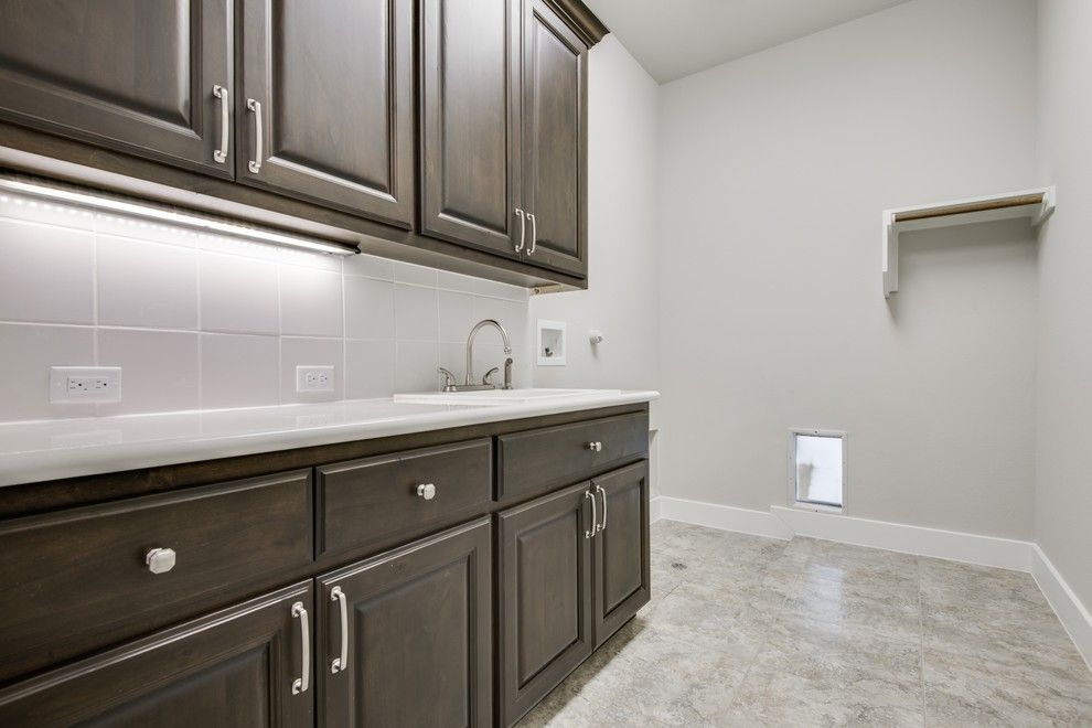 Meritage Homes San Antonio for a Transitional Laundry Room with a Custom Homes and Hill Country Nouveaux (Transitional) by Genuine Custom Homes