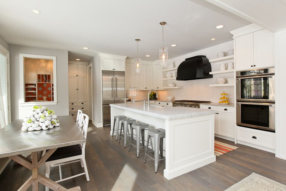 Metairie Small Animal Hospital for a Contemporary Kitchen with a White Kitchen and Modern Cottage Dream Home in Edina by REFINED LLC