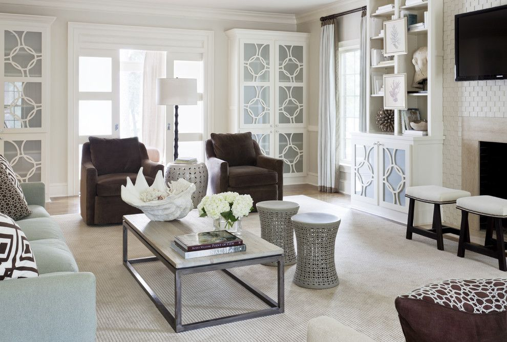 Metairie Small Animal Hospital for a Transitional Family Room with a Bookcase and Pleasant Valley by Tobi Fairley Interior Design