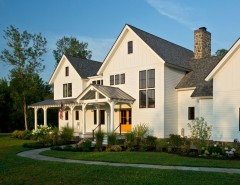 Metro Brokers Denver for a Farmhouse Exterior with a Portico and Farmhouse Vernacular by Teakwood Builders, Inc.