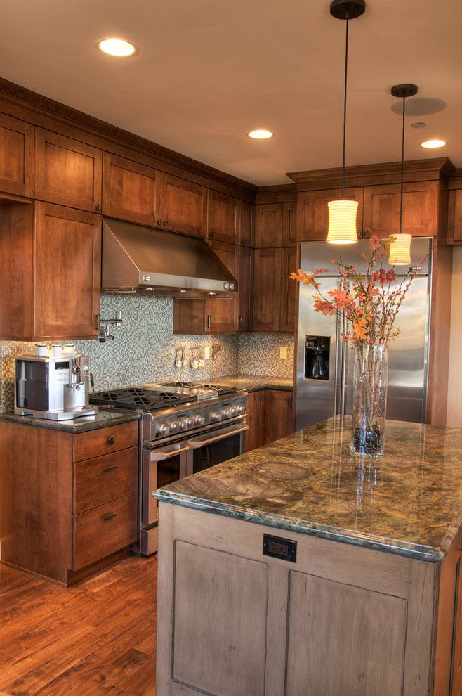 Meyer Appliance for a Transitional Kitchen with a Mosaic and Napa Style Home by Interiorstyle