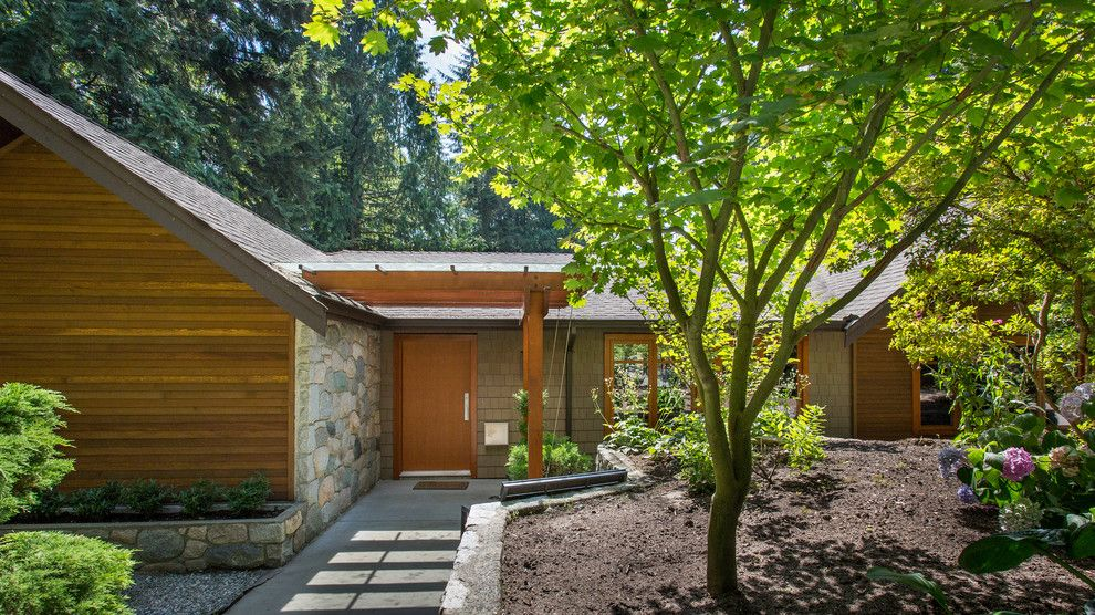 Midtown Arbor Place for a Contemporary Exterior with a Mailbox and Evergreen Residence by Synthesis Design Inc.