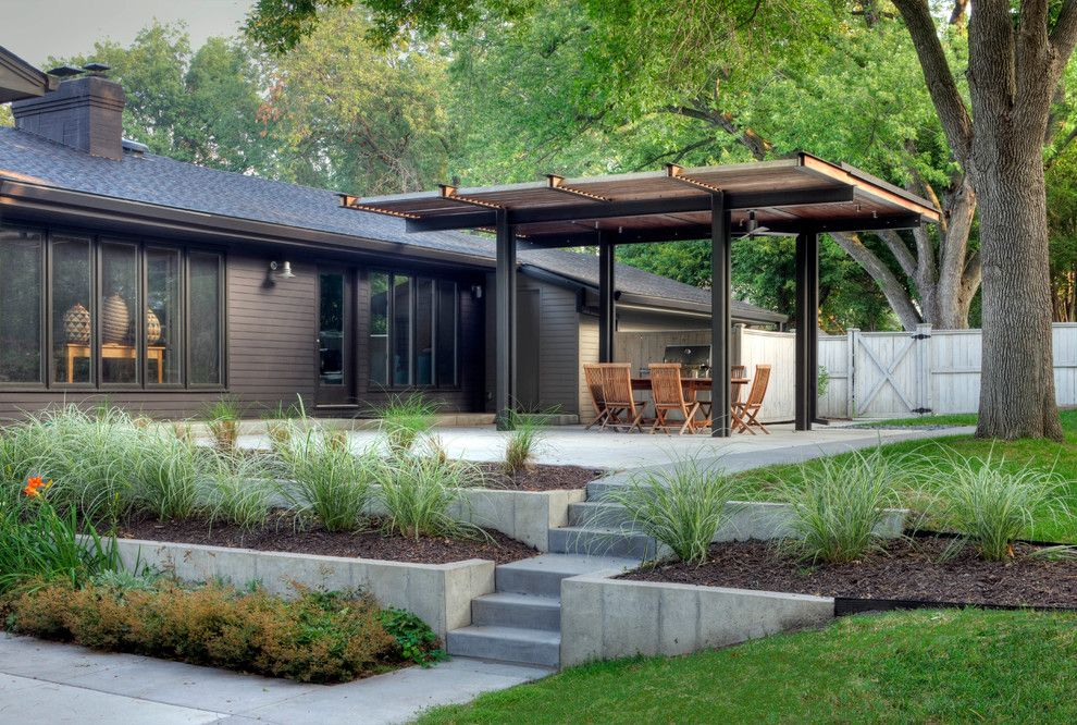 Midtown Arbor Place for a Contemporary Landscape with a Terraced Patio and Cedar Street Remodel by Steven Ginn Architects Llc
