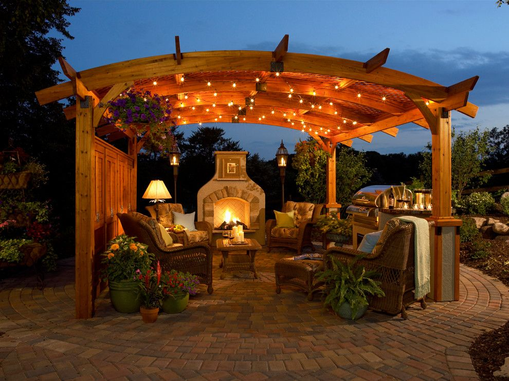 Midtown Arbor Place for a Traditional Patio with a Stainless Steel Grill and Portfolio by the Fire Place Ltd