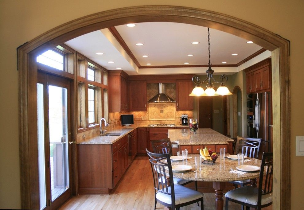Midwest Appliance for a Modern Kitchen with a Granite and Kitchen Remodeling by Midwest Tops, Inc.