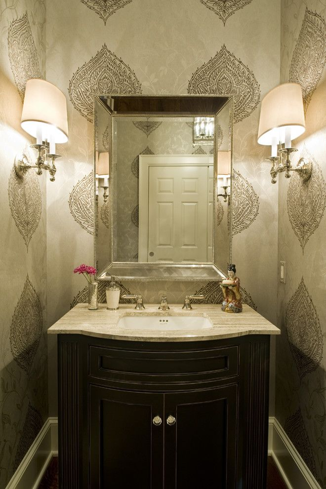 Mihomes for a Traditional Powder Room with a Half Bath and Pennsylvania Farm House by Dewson Construction Company