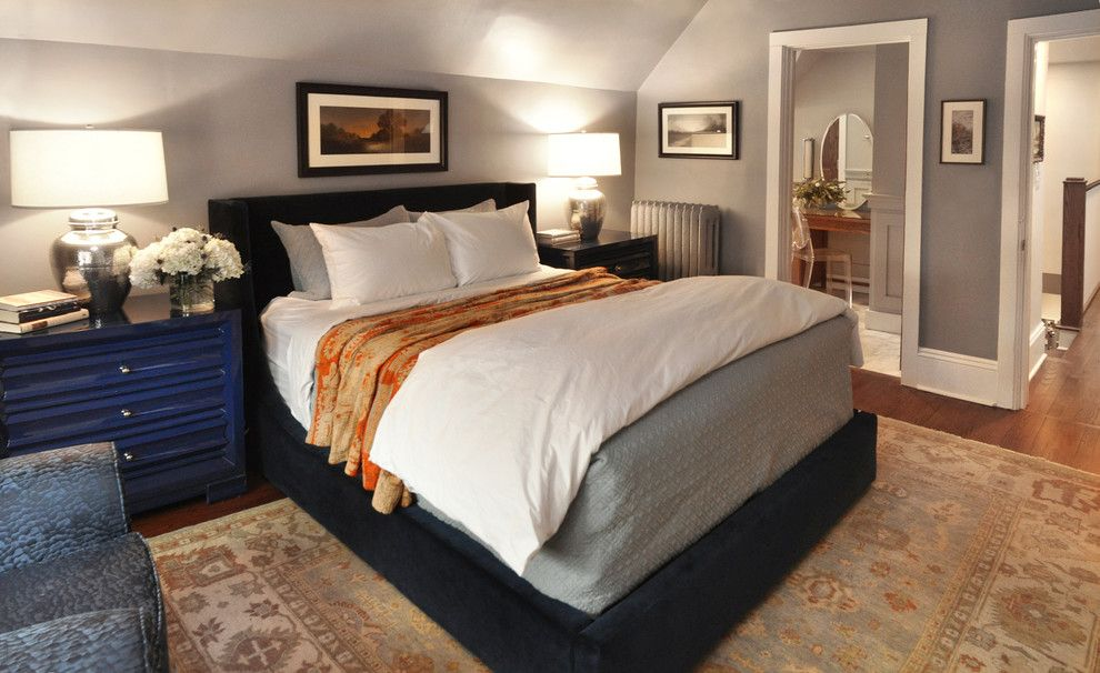Mikes Furniture Chicago for a Transitional Bedroom with a Historic Preservation and Evanston Historic Single Family Home by Nicholas Moriarty Interiors
