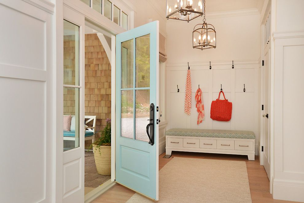 Millbrook Apartments for a Beach Style Entry with a Rug and Craftsman Beach House Gibsons Bc by Sunshine Coast Home Design