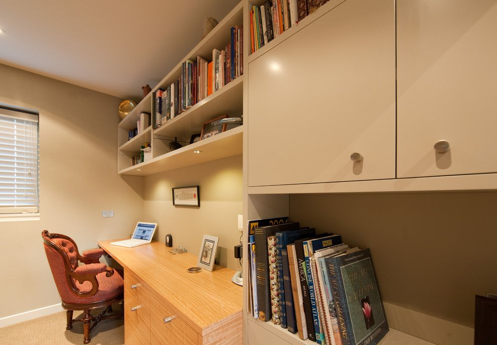 Millbrook Apartments for a Contemporary Home Office with a Home Office with a Combination of Paint and Millbrook Apartments by Cutting Edge Kitchens
