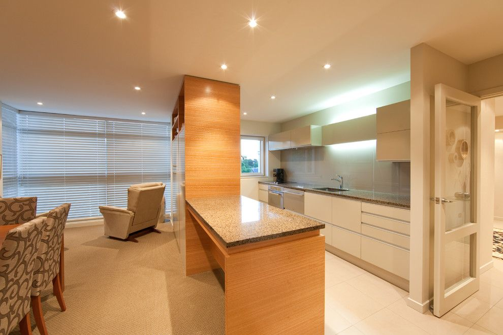 Millbrook Apartments for a Contemporary Kitchen with a Apartment Kitchen Using Prime Spanish Oa and Millbrook Apartments by Cutting Edge Kitchens