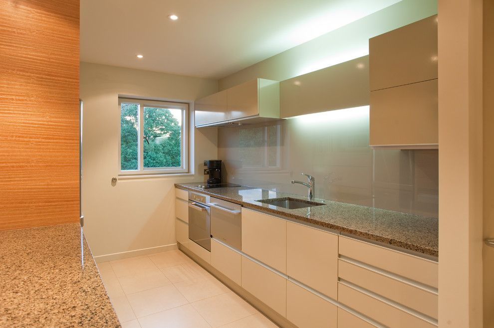 Millbrook Apartments for a Contemporary Kitchen with a Entire Back Wall Finished with a Glass S and Millbrook Apartments by Cutting Edge Kitchens