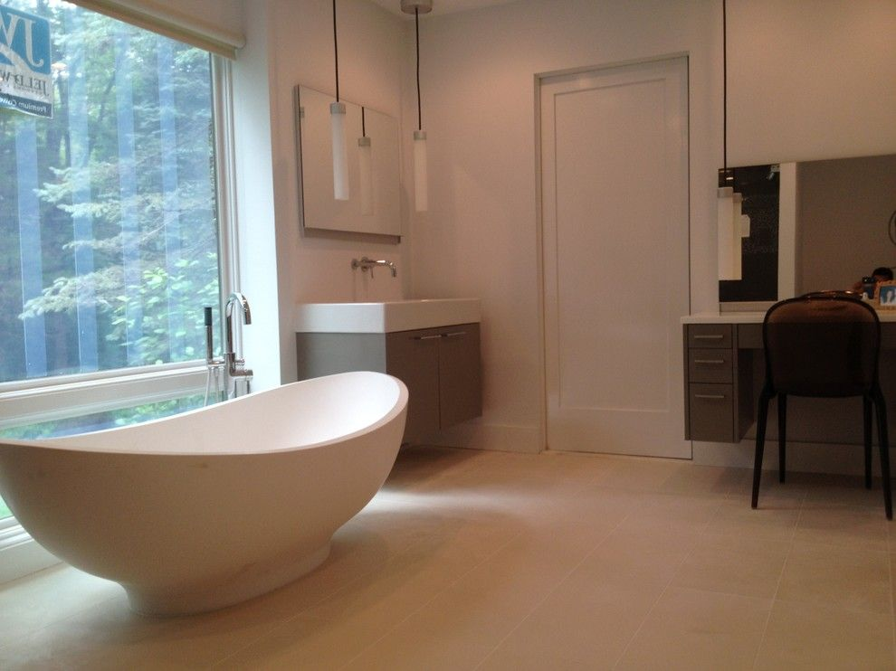Millington Nj for a Contemporary Bathroom with a Gray and Millington, Nj by Benjamin Cruz Designs
