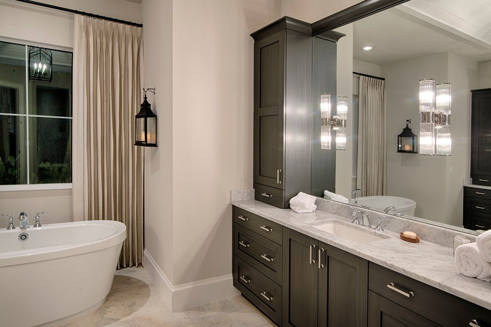 """Miromar for a Beach Style Spaces with a Naples Home and """"Treanna"""" Model at Miromar Lakes by Divco Custom Homes"""