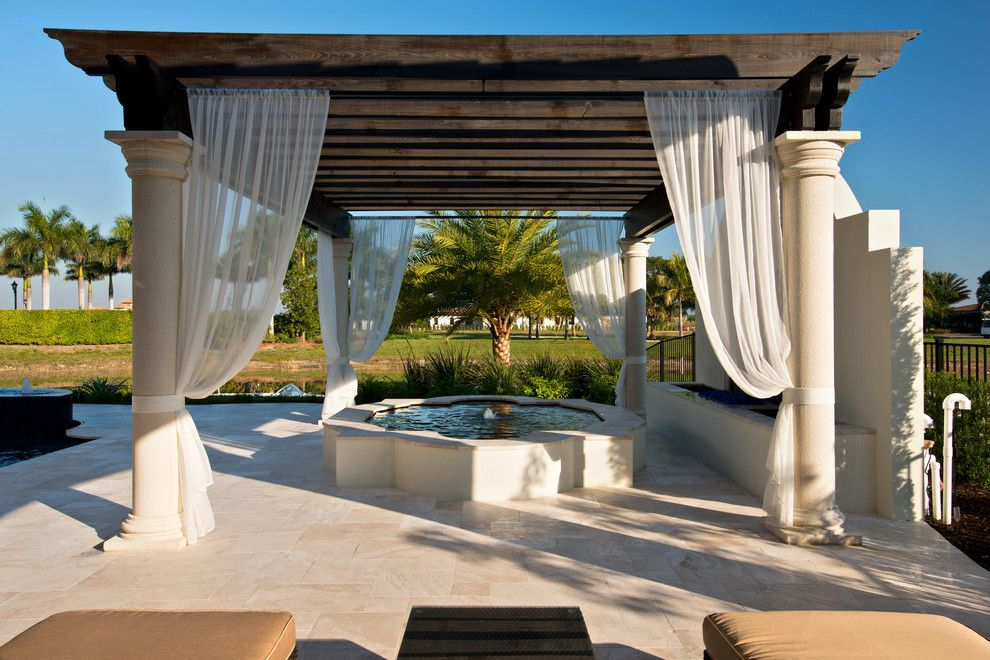 Miromar for a Modern Patio with a Lakefront Home and Private Residence, Miromar Lakes by Randall Perry Photography