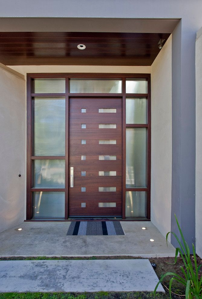 Modesto Steel for a Contemporary Entry with a Metal and Los Altos Home by Elevation Architects
