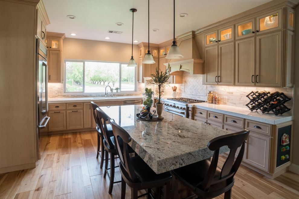 Modesto Steel for a Traditional Kitchen with a Pendant Lights and Ripon Kitchen Remodel by Fetter Contruction, Inc.