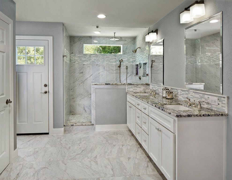 Moen Faucet Warranty for a Traditional Bathroom with a Window in Shower and Residential Addition Under $100,000 by Nari Greater Dallas