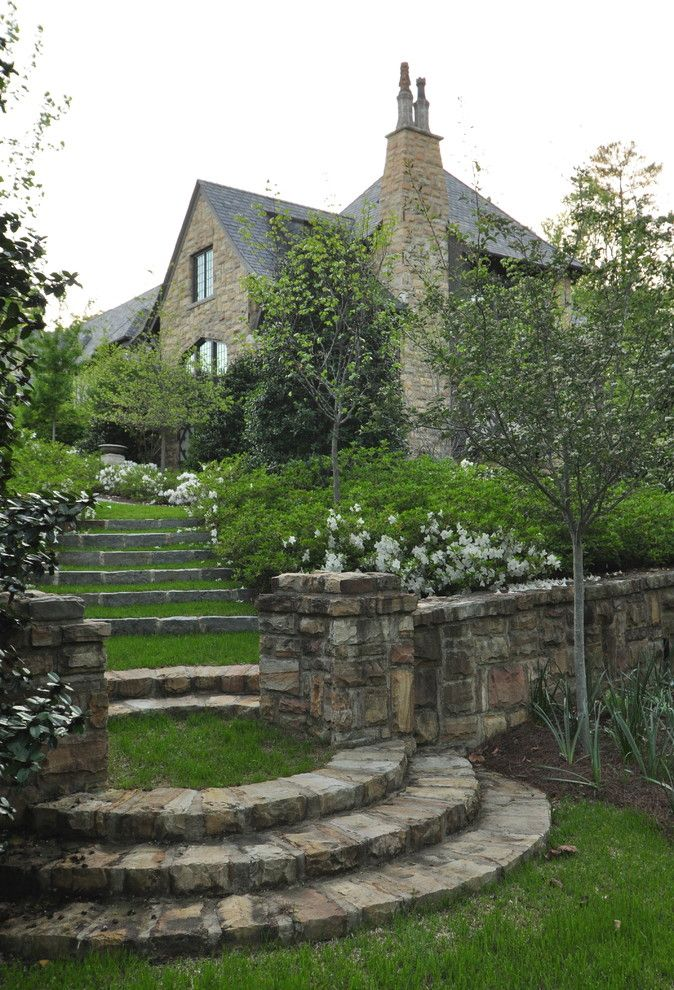 Monet's Garden for a Traditional Landscape with a Zoning and English Tutor Home by Jeffrey Dungan Architects