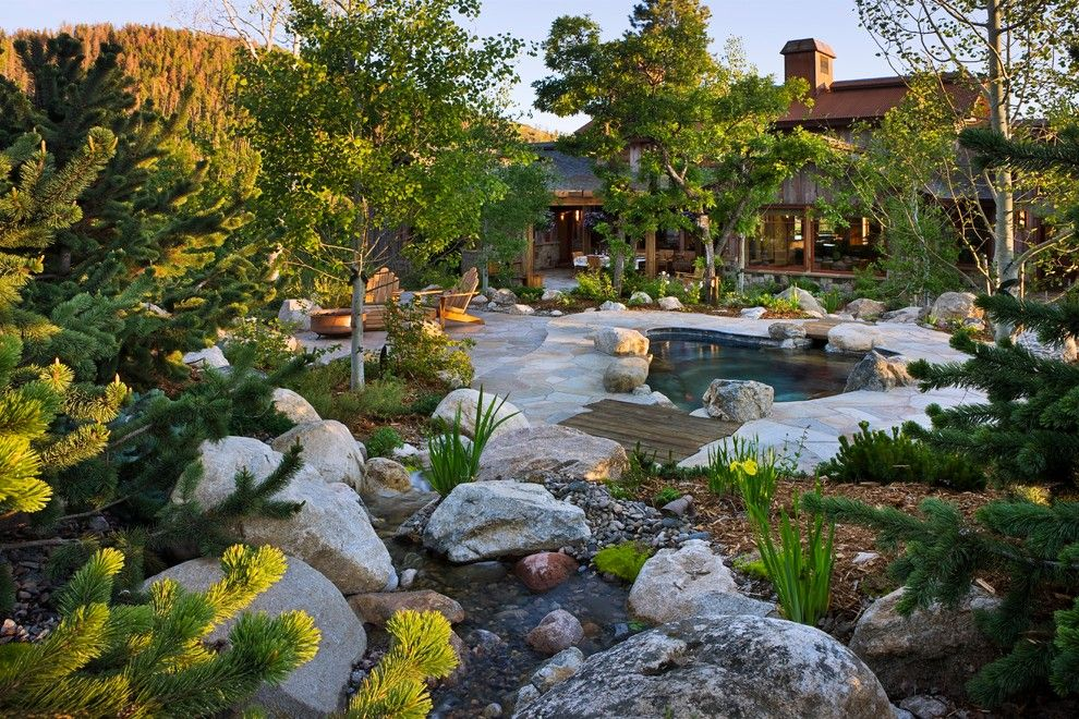 Mono Hot Springs for a Asian Landscape with a Mountain Contemporary and Steamboat Storm Meadow Drive Mountain/asian Fusion by Trilogy Partners