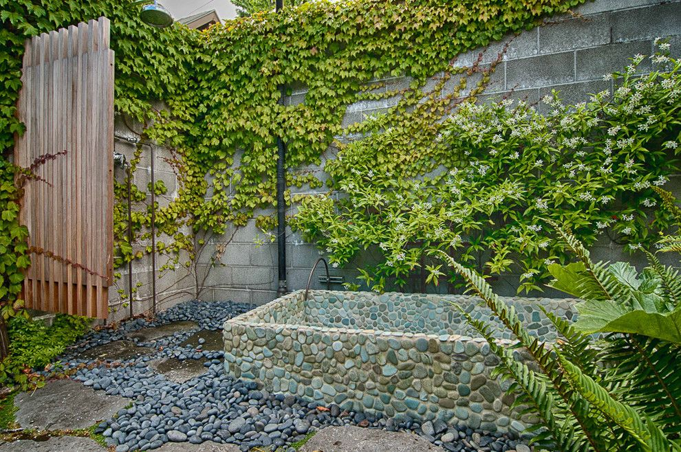 Mono Hot Springs for a Eclectic Landscape with a Stepping Stones and Mixed Use Elegance by Louise Lakier