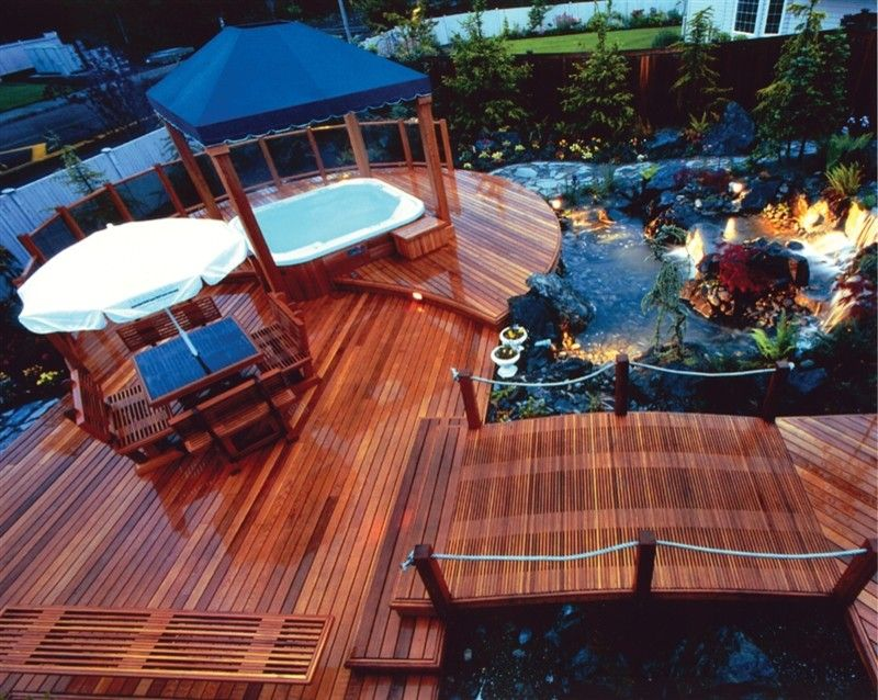 Mono Hot Springs for a Traditional Landscape with a Backyard Water Design and Hot Spring Deck Design by Hot Spring Spas