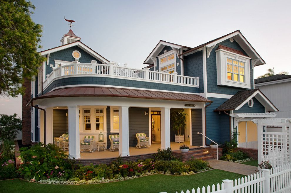 Montauk Beach House for a Beach Style Exterior with a Island Coastal and Coastal Living Magazine Showhouse 2014 by Flagg Coastal Homes