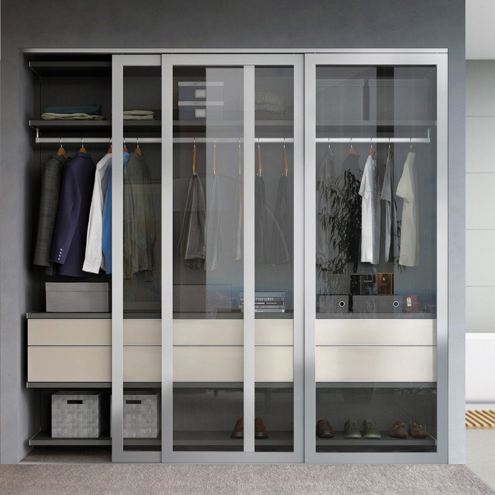 Montecito California for a Contemporary Closet with a Glass Sliding Door and California Closets by California Closets Hq