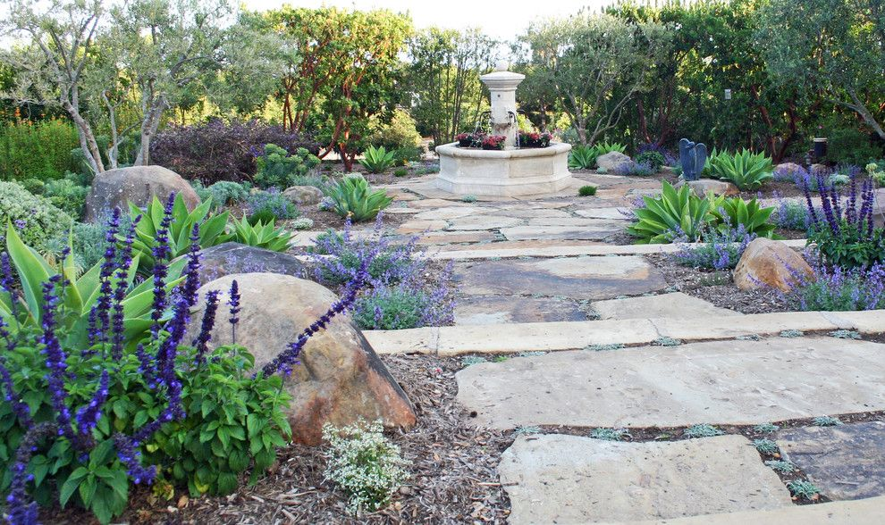 Montecito California for a Mediterranean Landscape with a Modern Classics and California Mediterranean Contemporary by Montecito Landscape
